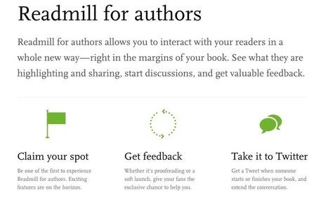 Avec ReadMill, les auteurs pourront répondre aux lecteurs dans les marges de leurs livres   Marginalia   Annotations, document de collecte   Scoop.it