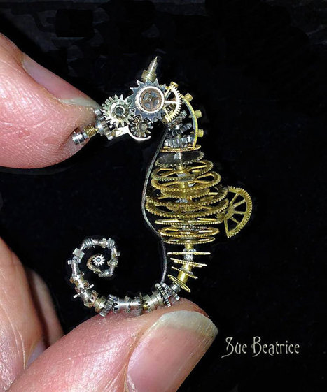 Old #Watch Parts #Recycled Into #Steampunk #Sculptures By Susan Beatrice. #art #foundobjects | Luby Art | Scoop.it