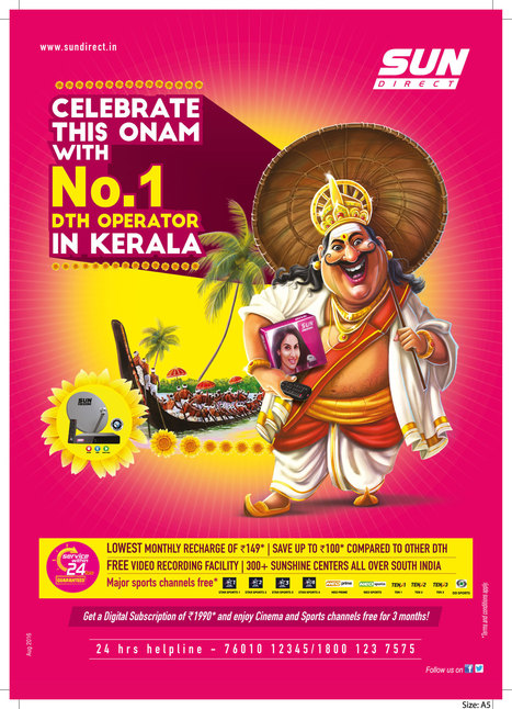 Celebrate This Onam With Sun Direct Exciting Offers – Press Release | Dish TV Service Providers in India | Scoop.it