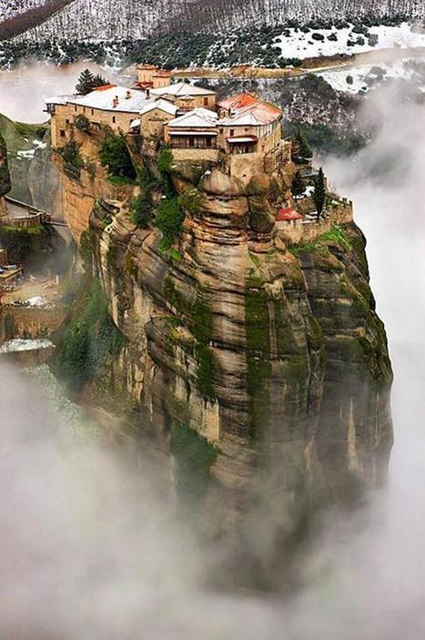 Twitter / Earth_Pics: Meteora, Greece in Winter. ... | Rent a car | Scoop.it