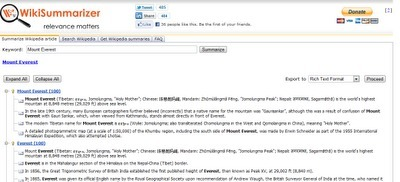Wiki Summarizer Outlines Wikipedia | Time to Learn | Scoop.it