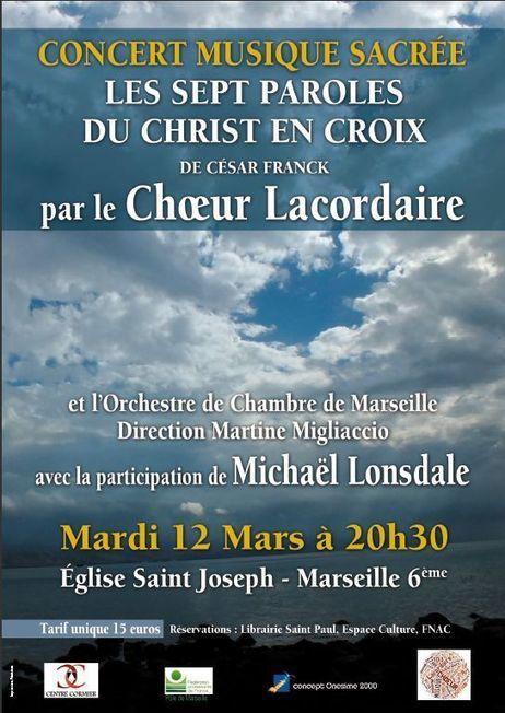 Concert de Musique Sacrée, Mardi 12 mars à 20h30 | Esprit de Synthèse | Scoop.it