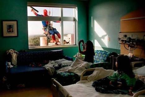 Limpiadores de ventanas se visten como superhéroes en un hospital infantil | Curiosidades | Scoop.it