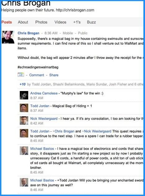 Conversations Matter in Google+ Chris Brogan | The Google+ Project | Scoop.it