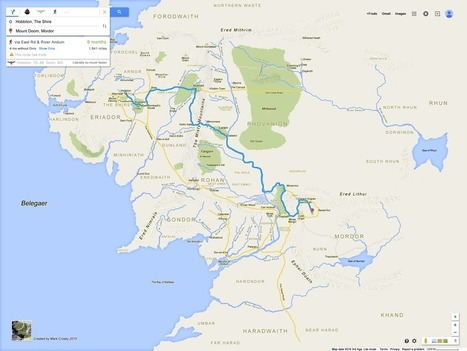 La Terre du Milieu en version Google Maps - Actualité Abondance | Bibliothèques | Scoop.it
