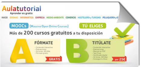 Aulatutorial, más de 200 cursos online y gratuitos.- | Educación y TIC | Scoop.it