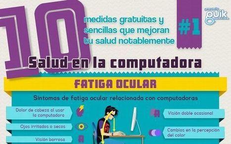 Una infografía que nos enseña a cuidar nuestra salud frente al uso continuo del ordenador | MEDICINA ALTERNATIVA natbio cbi | Scoop.it