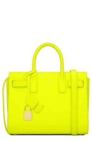 Saint Laurent 'Petite Ligne Y' Leather Tote   Top Handbags   Scoop.it