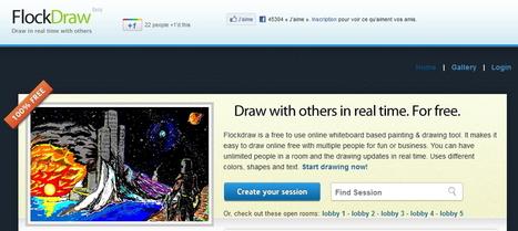 Three Super-Simple Collaborative Drawing Whiteboards | Le Top des Applications Web et Logiciels Gratuits | Scoop.it