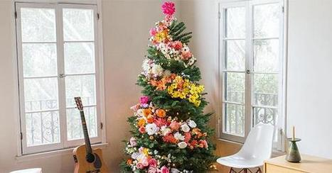 The Floral Christmas Tree Trend Makes Us All Kinds of Happy | Organic Farming | Scoop.it