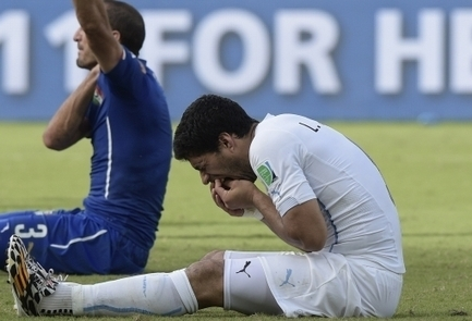 You are more likely to be bitten by Luis Suarez (1 in 2,000) than a shark (1 in 3,700,000)   Xposed   Scoop.it