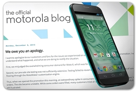 Motorola offers a make-good after Cyber Monday problems | PR and Business | Scoop.it