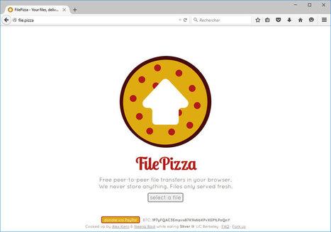 FilePizza : partager des fichiers en P2P dans le navigateur web | Libertés Numériques | Scoop.it