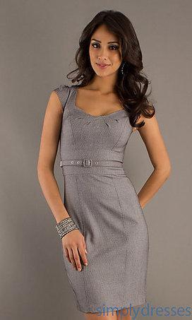 Knee Length Grey Dress by XOXO | Little Black Dress | Scoop.it