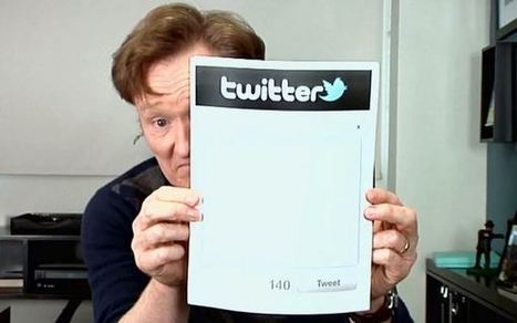 Conan O'Brien Unveils the Future of Twitter: Manual Tweets | Technoculture | Scoop.it