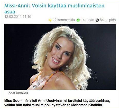 FINNISH BEAUTY PAGEANT FINALIST: I COULD WEAR A BURKA…….! | | Finland | Scoop.it