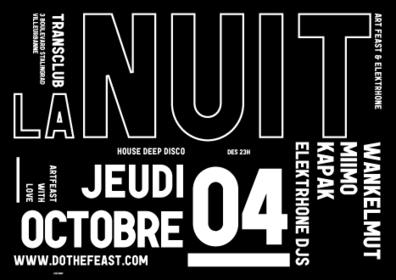 LA NUIT x ELEKTRHONE FESTIVAL w/ WANKELMUT @ CLUB TRANSBO | ART FEAST - Music & Events | festival musique | Scoop.it