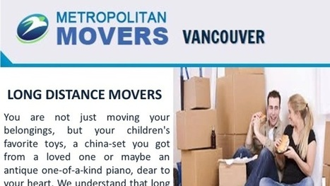 Movers Services In Vancouver | Metropolitan Movers | Scoop.it