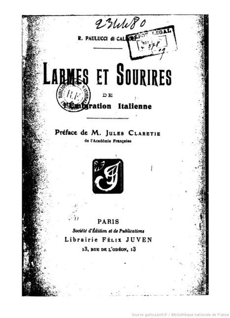 Larmes et sourires de l'émigration italienne - 1909   Généal'italie   Scoop.it