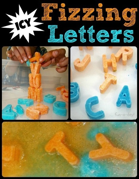 Icy Fizzing Letters {Baking Soda and Vinegar FUN} - Fun-A-Day!   Happy Days Learning Center - Resources & Ideas for Pre-School Lesson Planning   Scoop.it