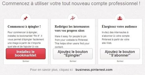 Pinterest lance ses profils spécifiques pour les professionnels | Actualités médias sociaux | Scoop.it