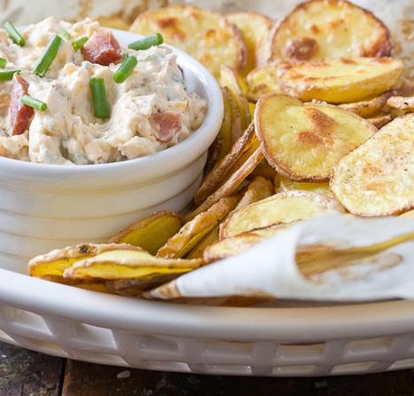 홈메이드 감자칩 레시피~ Recipe: Loaded Baked Potato Dip with Homemade Chips Recipes ... | Food Life Story | Scoop.it