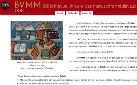 Les manuscrits médiévaux sur les étagères virtuelles du CNRS | Livres & lecture | Scoop.it