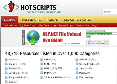 Hot Scripts - The net's largest PHP, CGI, Perl, JavaScript and ASP script collection and resource web portal. | formation 2.0 | Scoop.it