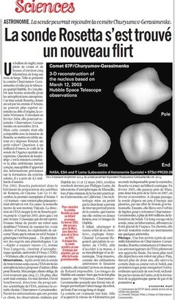 Rosetta se réveille et vise la comète - Sciences² - Libération | Rosetta : des plans sur la comète ! | Scoop.it