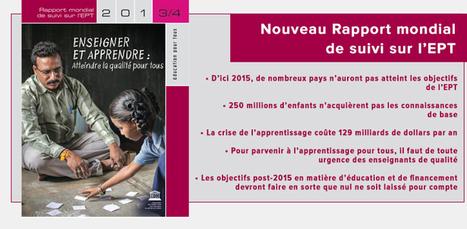 Rapport mondial de suivi sur l'Éducation pour tous | Education & Numérique | Scoop.it