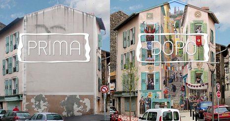 Artista Francese trasforma Grigi Edifici Cittadini in splendide Opere d'Arte | Urbanistica e Paesaggio | Scoop.it