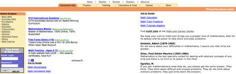 Math.com - World of Math Online | K-12 Technology | Scoop.it