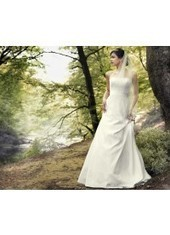 A Line Strapless Brush Train Lace Ivory Wedding Dress H1ly0021 for $890 | Landybridal 2014 wedding dress | Scoop.it