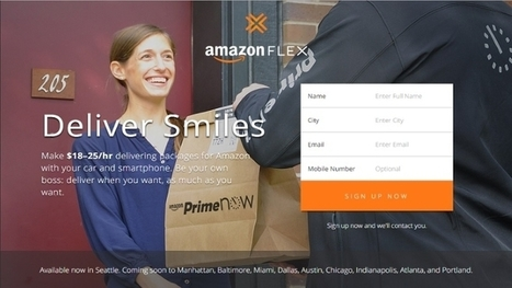 Amazon Flex Is Uber for Package Delivery | All about Business | Scoop.it