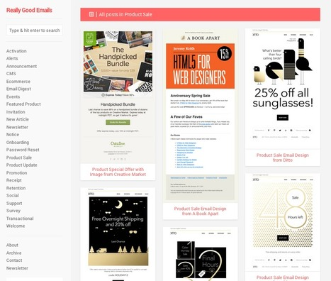 A Curated Showcase of the Best Email Newsletter Designs: Really Good Emails | digital marketing strategy | Scoop.it