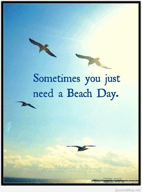 Beach day quote | Wallpapers | Scoop.it