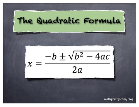 The Quadratic Formula: Best Videos! | K-12 Web Resources - Math | Scoop.it