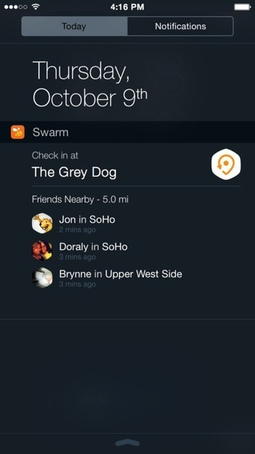 Super fast check in (even from your lock screen). Try out our new Swarm widget for iOS 8.   Seo, Social Media Marketing   Scoop.it
