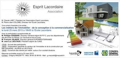 Soirée «Les Métiers de l'Immobilier» Lundi 25 mars 2013 à 18h | Esprit de Synthèse | Scoop.it