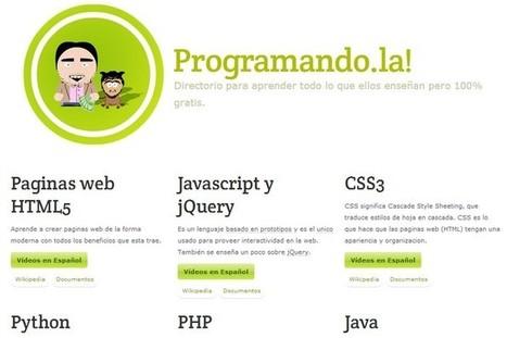 Programando.la, compilación de vídeo tutoriales para aprender a programar en español | Cursos de programacion | Scoop.it