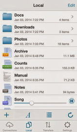 """Useful iPhone or iPad app for accessing files on remote server - """"FTP Mate"""" app 