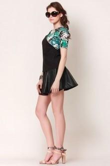 Black & Floral Wonder Top   Online shopping for women   Scoop.it