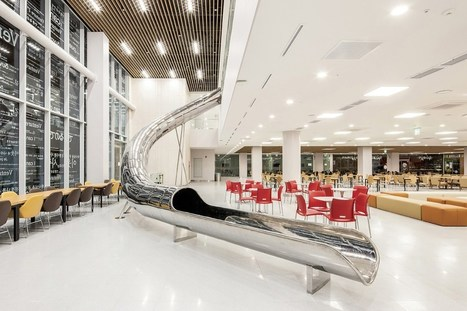 This Korean University Library Uses a Two-Storey Slide to Attract Students to Study | innovative libraries | Scoop.it