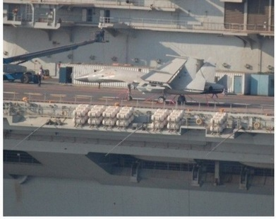 Chinese aircraft carrier spotted with mock Shenyang J-15 combat plane onboard   The Matteo Rossini Post   Scoop.it