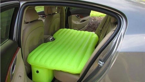 Inflatable mattress turns your back seat into a nap pod fit for a startup | Have More Fun In Bed | Scoop.it