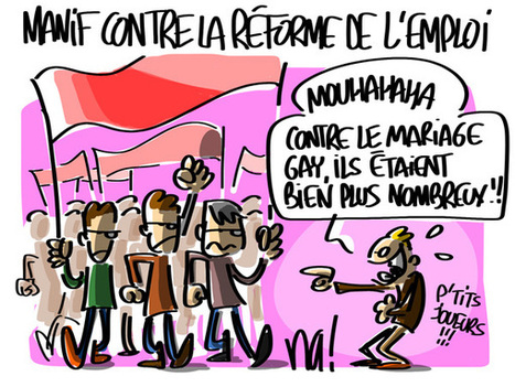 Manifestation contre la réforme de l'emploi | Baie d'humour | Scoop.it