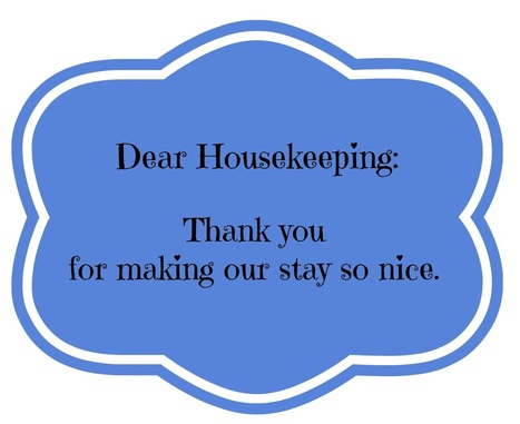 Thank You Notes for Hotel Housekeeping While Traveling {Printables} - A Little Bite of Life | It's Time to Travel | Scoop.it