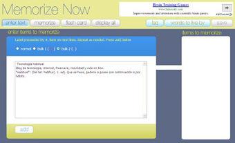 Tecnología habitual: Memorizar textos on line | My post 1 | Scoop.it