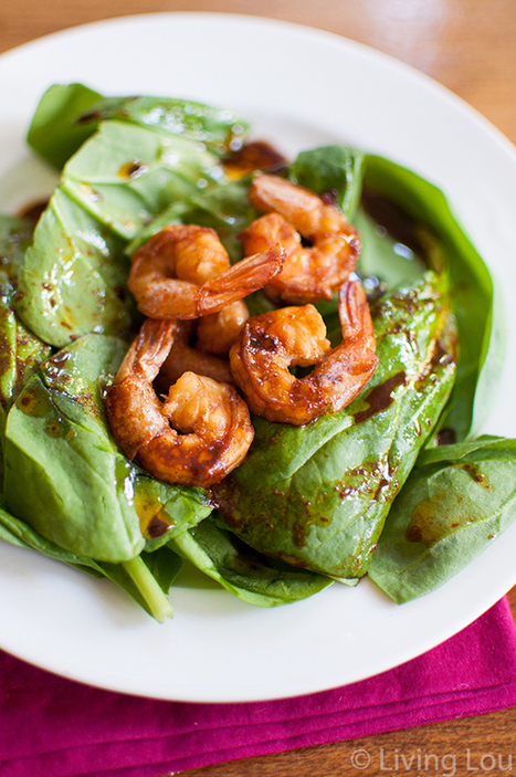 #HealthyRecipe : Shrimp and Spinach Salad | The Man With The Golden Tongs Goes All Out On Health | Scoop.it