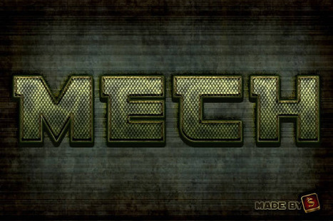 Create a Mech-Inspired Text Effect in Photoshop Using Layer Styles | Psdtuts+ | Crazy 4 Photoshop | Scoop.it